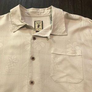 jamaica jaxx Shirts - Jamaica Jaxx Silk Button Front Shirt